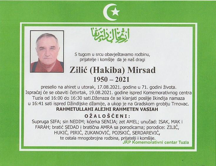 Preminuo je Mirsad Zilić