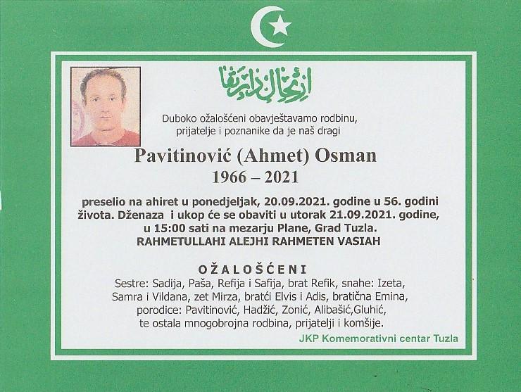 Preminuo je Osman Pavitinović