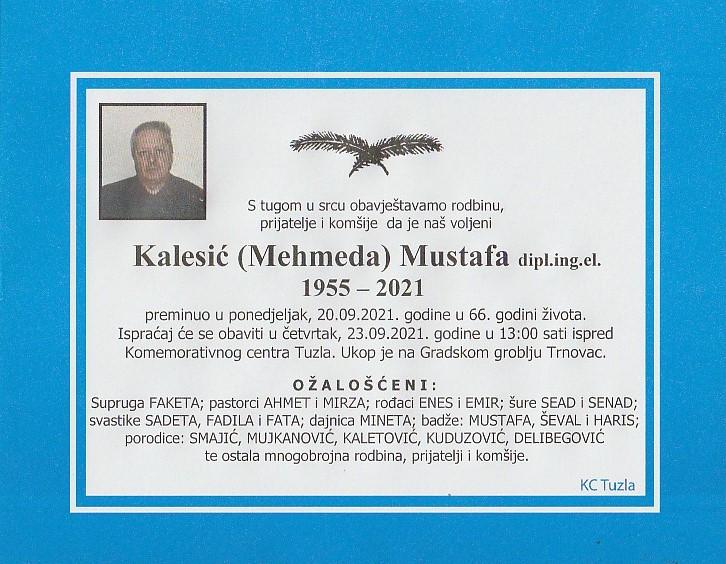 Preminuo je Mustafa Kalesić
