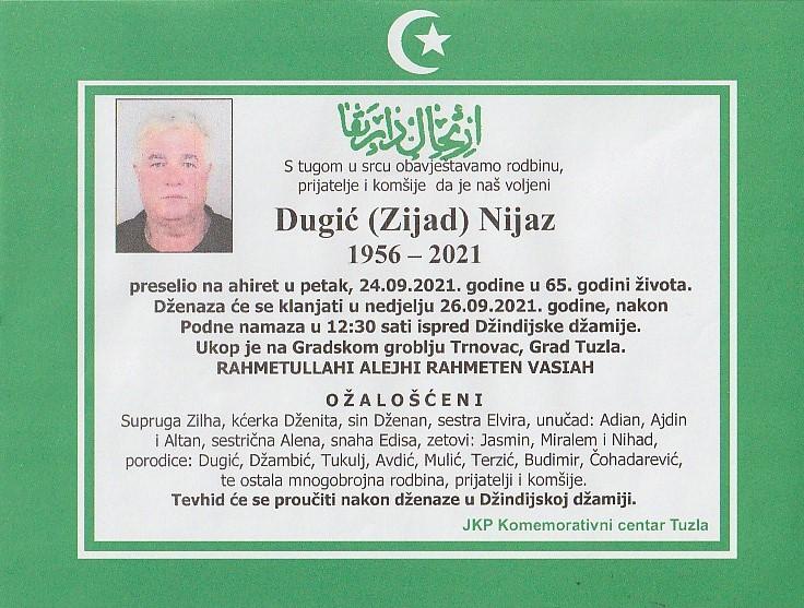 Preminuo je Zijad Dugić