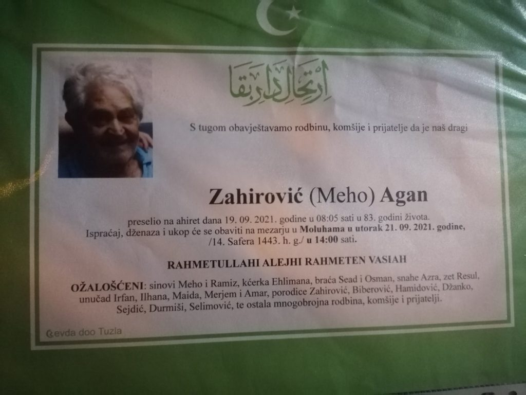 Preminuo je Agan Zahirović