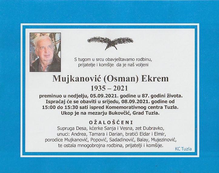 Preminuo je Ekrem Mujanović
