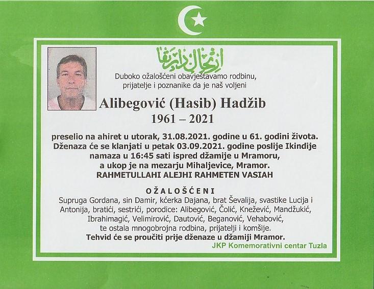 Preminuo je Hadžib Alibegović