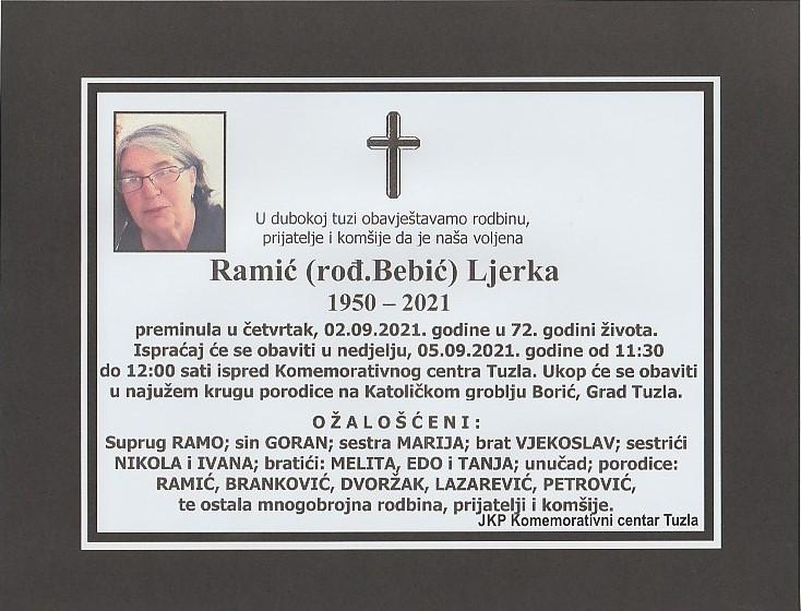 Preminula je Ljerka Ramić