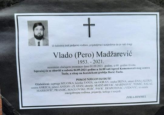 Preminuo je Vlado Madžarević