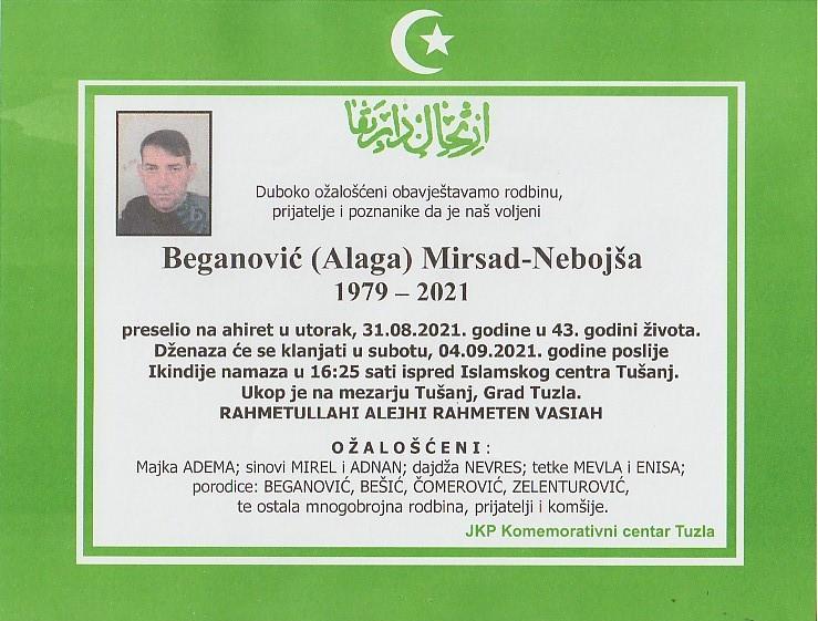 Preminuo je Mirsad Beganović Nebojša