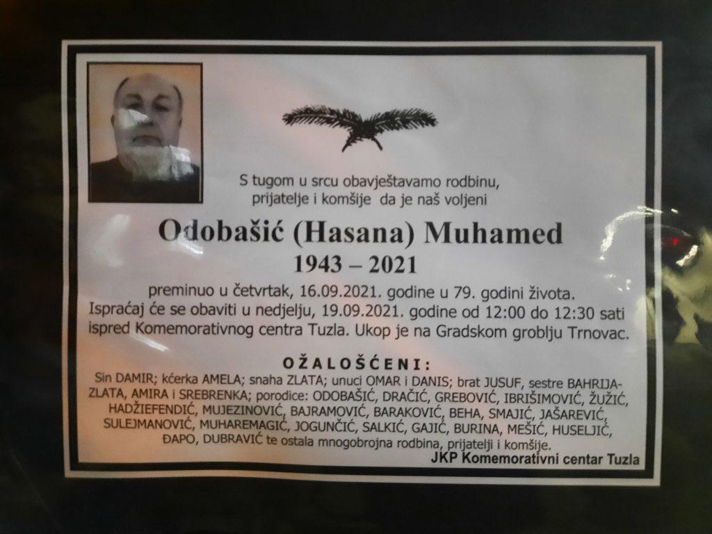 Preminuo je Muhamed Odobašić