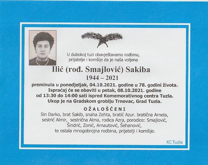 Preminula je Sakiba Ilić